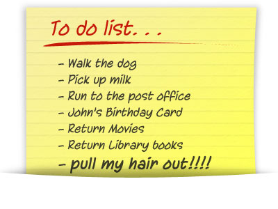 Daily Details Errand Service and Personal/Office Assistant Service To-Do List